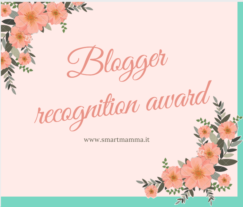 Blogger Recognition Award.
